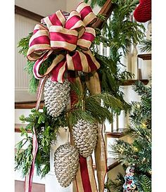 Southern Living Glass Pinecone Ornament