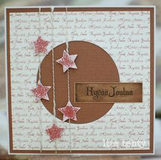 Itte tehty: Tähtiä langoissa Christmas Is Coming, Christmas Love, Christmas Crafts, Arts And Crafts, Paper Crafts, Xmas Cards, Holidays And Events, Cardmaking, Origami