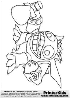 Skylanders Giants Coloring Pages | You are here: PrinterKids » Skylanders » Printable Coloring Page