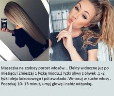 Świetna maseczka na szybszy porost włosów - NAPRAWDĘ DZIAŁA!!! Grow Hair, Looking Gorgeous, Clear Skin, Diy Hairstyles, Hair Hacks, Life Hacks, Beauty Hacks, Hair Care, Hair Beauty