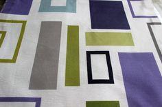 Amethyst Eleta Rectangles Fabric By The Yard Curtain by FabricMart