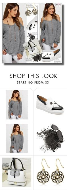 """""""Grey Sweater 29"""" by ramiza-rotic ❤ liked on Polyvore featuring pretty, Sweater and rosegal"""