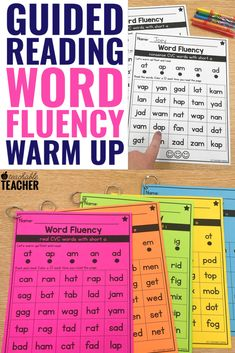 These word fluency activities are perfect for giving new readers lots of practice with different phonics skills. Whether you're working with kindergarten, first grade, 2nd grade or above, these pages are a great intervention. Use them for teaching or as an assessment to help your students build mastery and continue improving. Reading Fluency, Reading Intervention, Guided Reading, Teaching Reading, Reading Strategies, Phonics Rules, Teaching Phonics, Fluency Activities, Learning Activities