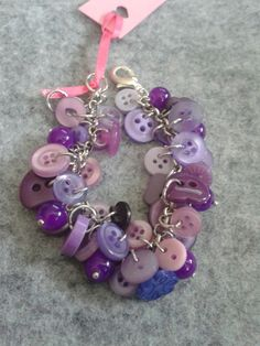 Items similar to little girls purple button bracelet on Etsy Button Bracelet, Bracelets, Jewelry Party, Little Girls, Jewelry Design, Buttons, Purple, Pretty, Toddler Girls