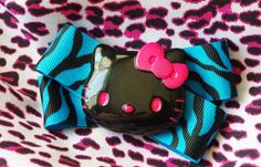 Sanrio Hello Kitty Hot Pink and Neon Blue by TheBeesKneesCrafts, $7.00
