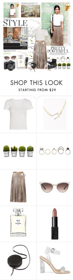"""""""Everything you are going through is preparing you for everything you asked for."""" by mars ❤ liked on Polyvore featuring rag & bone, Andrea, Billabong, Iosselliani, Valentino, Gucci, Chanel, NARS Cosmetics, Sara Barner and Eos"""