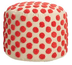 Tufted Spots Pouf in persimmon from Nordstrom (but think they are out in this color unfortunately!)