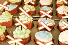 Railroad crossing cupcake toppers.