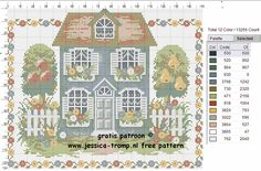 108 Free cross stitch designs houses stitchingcharts borduren gratis borduurpatronen huizen huisjes kruissteekpatronen