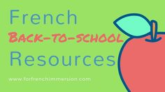 "Save time by checking out this list of French back-to-school resources with links to videos, free printables, and more! Ready for ""la rentrée scolaire""? Core French, French Class, School Resources, Teaching Resources, Teaching Ideas, Kindergarten Curriculum, Free In French, French Resources, French Immersion"