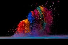 Visible sound: color pigments on a speaker..