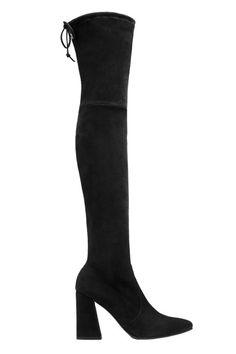 Stuart Weitzman The Highstreet Boot When it comes to OTK boots, our go-to designer will always be Stuart Weitzman. This fall he added a flared heel to his classic style, making this Highstreet boot the shoe of the season. These are bound to sell out!