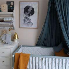 Stone Teal moKee Mini Cot #cot #nursery