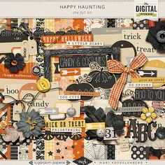 Happy Haunting by Sugarplum Paperie and Mari Koegelenberg is a digital scrapbooking kit that is perfect for celebrating all things Halloween!