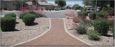 Great landscaping idea for water conservation if you live in Phoenix, AZ.