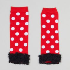 Polka Dot Legwarmers with Ruffle Bottom - Can one of my friends please hurry up and have a girl?!