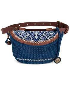 The Sak Sayulita Fanny Pack - Sale & Clearance - Handbags & Accessories… Crochet Belt, Crochet Scarf Easy, Crochet Teddy, Art Bag, Knitted Bags, Handmade Bags, Handbag Accessories, Fanny Pack, Purses And Bags