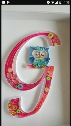 abecedaire in quilling - Quilling Paper Crafts Quilling Letters, Paper Quilling Tutorial, Origami And Quilling, Paper Quilling Designs, Quilling Paper Craft, Quilling 3d, Paper Crafts, Quilling Ideas, Quiling Paper Art
