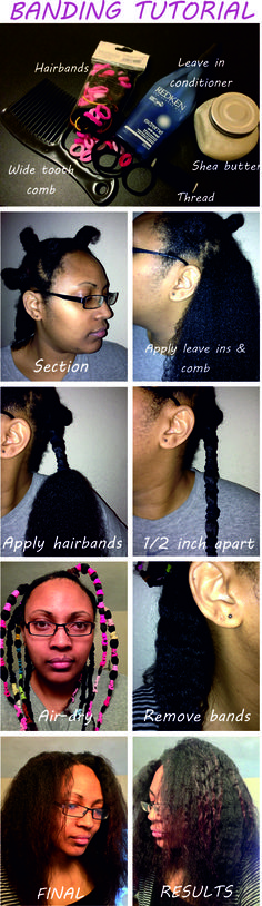 How To Band Your Natural Hair For A Heat Free Blowout http://www.blackhairinformation.com/by-type/natural-hair/how-to-band-your-natural-hair-for-a-heat-free-blowout/