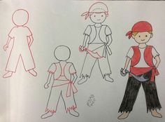 . Art Drawings For Kids, Drawing Ideas, Art Projects, Project Ideas, Step, Funny, Mary, People, Step By Step Drawing