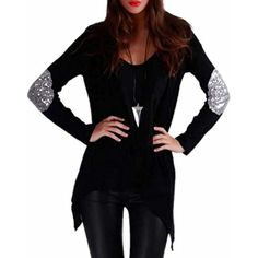 Women's Stylish Slim Fit Patch Open Front Cardigan Jackets >>> Be sure to check out this awesome product. (This is an affiliate link) #Sweaters