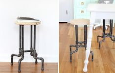 DIY INDUSTRIAL PIPE STOOL
