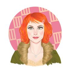 Hayley #6. Look: The Only Exception music video. Hayley Williams, Paramore, hairstyles, orange hair, illustration, design