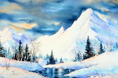Mountains Painting by Teresa Ascone