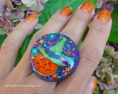 Jack-o-lantern Halloween Pumpkin Witch Costume by GlitterFusion