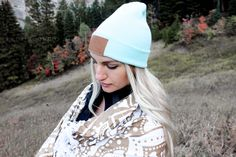 Mint Utah Live Elevated Beanie by Lady Scorpio  Save 25% off all orders with code PINTERESTXO at checkout | Adventure Fashion Shop LadyScorpio101.com | @LadyScorpio101 ≫ Wearing an Everwear Bracelet (Shop Everwear101 on Etsy) : Photography Luna Blue @Luna8lue | Model Savannah Brazil enjoying Fall in Utah