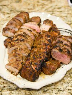 Sweet Tea and Soy Sauce Pork Tenderloin  #grilling #summer #quick #bbq #pork