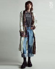 Shop the Collection now available on Queer Fashion, Grunge Fashion, Fashion 2020, Fashion Outfits, Womens Fashion, R13 Denim, Cropped Wide Leg Jeans, Look Rock, Grunge Girl
