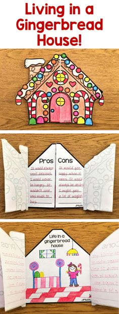These cute gingerbread house writing prompts are great to use any time during the holiday season. They are perfect to spark your kids' creativity and help them get excited about writing! There are four different prompts to choose from so you can select the one(s) that best match the ability level of your class. You could also put all of them in your writing center and let the children pick which one they want.