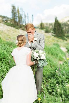 AK Studio Design | KiraLynn Wagner | First Look | Utah Mountain Bridals | Stephanie + Branson Bridals | Salt Lake City Utah Bridal Photography | AKStudioDesign.com