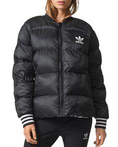 Black zipup adidas puffer jacket afflink Sport Fashion, Fashion 2017,  Fashion Outfits, Adidas caf7b8ef1b