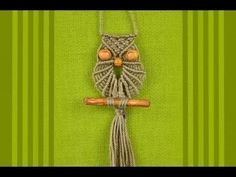 Macrame Owl / Makramee Eule / Макраме сова by Macrame School, lots of other videos