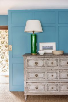 Willow Crossley's Cotswolds Bedroom by Octavia Dickinson, House & Garden UK, Farrow & Ball Stone Blue