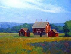 "Daily Paintworks - ""Codori Barns"" - Original Fine Art for Sale - © Lisa Kyle"