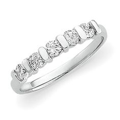 """cool """"promise ring"""" -- then could wear with engagement ring for wedding set....#Platinum Diamond #Anniversary #Band 1/2 ct tw"""