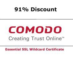 91% Discount on #Comodo Essential #SSL Wildcard Certificate.