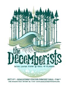 Gig poster for The Decemberists, 2009.