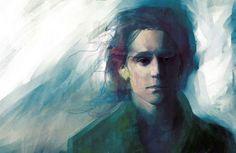 "Tom Hiddleston ""Loki"" Fan art - This is so cool looking."