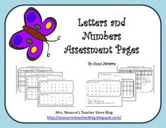 These Letters and Numbers Assessment Pages are a useful tool for helping to determine what students know. In preschool and kinder the assessment of letters, letter sounds, and students number knowledge is key to directing your daily instruction. In first grade, students should already have a good foundation in these skills, but if not then it is important to find out exactly what the student does know.