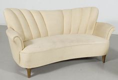 Curved Fluted Sofa