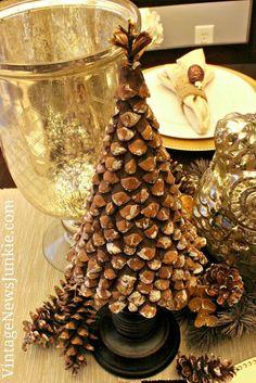 DIY Pinecone Christmas Tree :: Hometalk