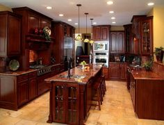 It's Modular Monday! Today NAHB's Home of the Day is featuring this great custom cherry kitchen from Ritz-Craft Corporation. Quite elegant!