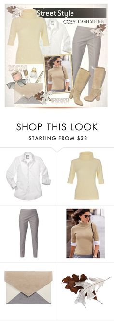 """""""Cosy Cashmere sweater....."""" by fashionlibra84 ❤ liked on Polyvore featuring WtR London, Ray-Ban and Tory Burch"""