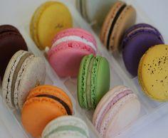 Premium Authentic French Macarons - Twelve piece box. $19.00, via Etsy.