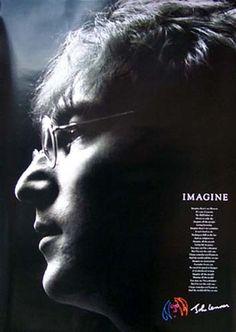 John Lennon Imagine Lyrics Music Poster 24x36