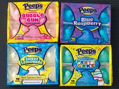 We Try Four Exclusive Peep Flavors for Easter (Serious Eats) Peeps Candy, Taffy Candy, Easter Candy, Peeps Flavors, Cake Flavors, Marshmallow Peeps, Junk Food Snacks, Weird Food, Chewing Gum